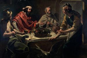 Philemon and Baucis Entertaining Jupiter and Mercury, C.1615-25 by Abraham Janssens Van Nuyssen