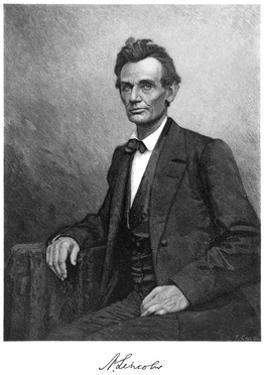 Abraham Lincoln (1809-186), US President, 1860 by T Cole