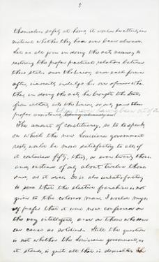 Autograph Manuscript of Lincoln's Last Address as President, Delivered in Washinton, D. C., from… by Abraham Lincoln
