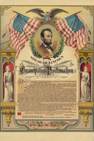 Abraham Lincoln Emancipation Proclamation Historical Document Plastic Sign