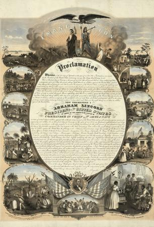 Abraham Lincoln Emancipation Proclamation Historical Poster