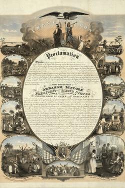 Abraham Lincoln Emancipation Proclamation Historical Poster