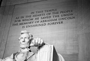 Abraham Lincoln Memorial b/w