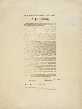 The Emancipation Proclamation. Abraham Lincoln Declares All Slaves in the United States Free by Abraham Lincoln