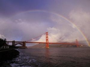 Golden Gate Rainbow by Abraham Lustgarten