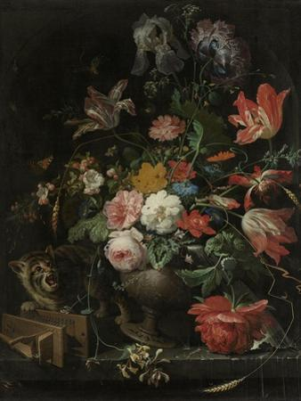 Overturned Bouquet by Abraham Mignon
