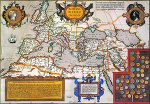 Map Of The Roman Empire by Abraham Oertel