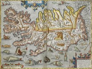 A Map Of Iceland by Abraham Ortelius