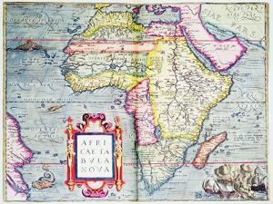Africae Tabvla Nova, 1570 by Abraham Ortelius