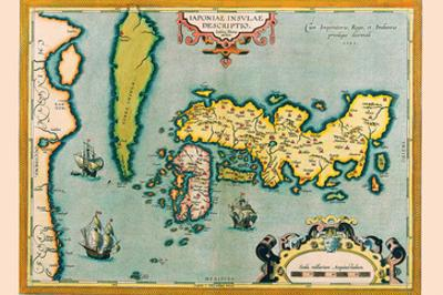 Description of the Japanese Islands by Abraham Ortelius