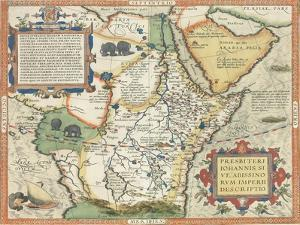 Map of Africa and the Arabian Peninsula by Abraham Ortelius