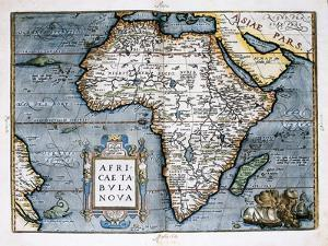 Map of Africa by Abraham Ortelius