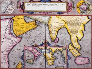 Map of Asia with a Superimposed Map of Europe, from 'Theatrum Orbis Terrarum', 1603 by Abraham Ortelius