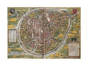 Map of Brussels by Abraham Ortelius