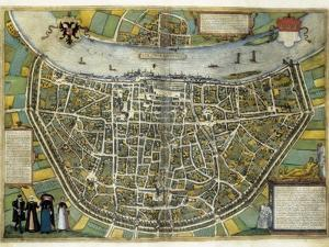 Map of Cologne by Abraham Ortelius