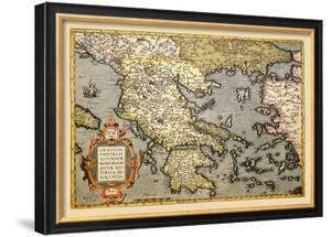 Map of Greece by Abraham Ortelius