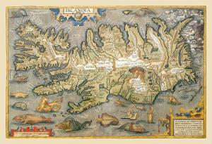Map of Iceland by Abraham Ortelius