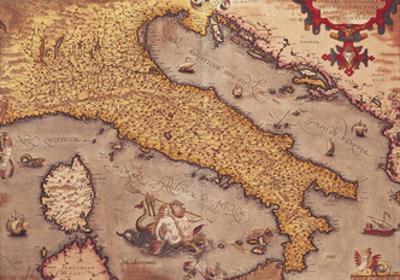 Map of Italy from Theatrum Orbis Terrarum