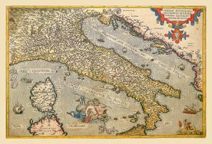 Map of Italy by Abraham Ortelius