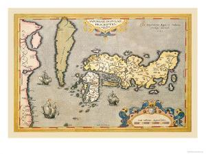 Map of Japan by Abraham Ortelius