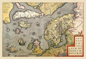 Map of North Sea by Abraham Ortelius