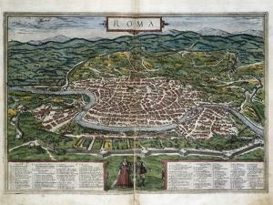 Map of Rome by Abraham Ortelius
