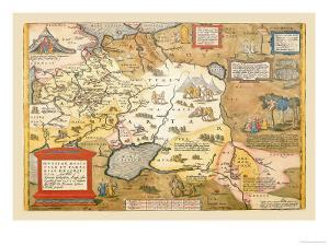 Map of Russia by Abraham Ortelius