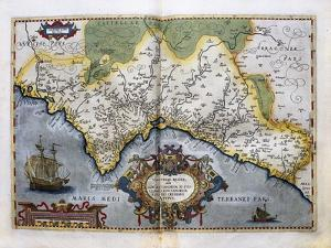 Map of the Kingdom of Valencia by Abraham Ortelius