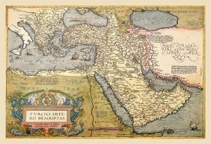 Map of the Middle East by Abraham Ortelius