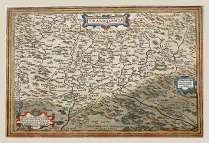 Map of Transylvania by Abraham Ortelius