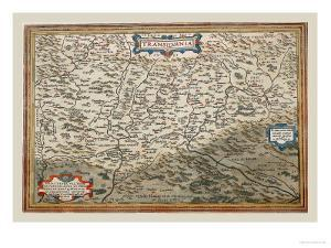 Map of Transylvania by Abraham Ortelius