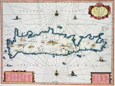 Map Showing the Island of Crete, C.1570