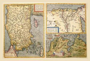 Maps of Turkey, Egypt, and Libya by Abraham Ortelius