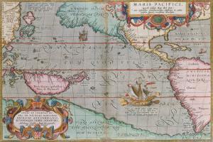 Maris Pacifici, 1590 by Abraham Ortelius
