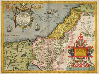 Palestine and the Promised Land, from the 'Theatrum Orbis Terrarum', 1603