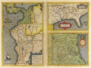 Peruviae Auriferae Regionis Typus Patent & La Florida  (Latin America and Florida), 1584 by Abraham Ortelius