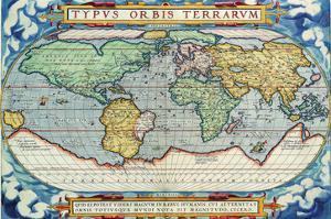 Typus Orbis Terrarum from the Theatre of the World in Apian Projection by Abraham Ortelius
