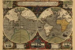 Vera Totius Expeditionis Nautica (World Map) by Abraham Ortelius