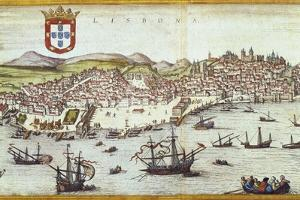 View of Lisbon by Abraham Ortelius