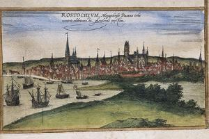 View of Rostock by Abraham Ortelius