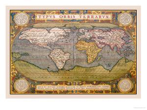World Map by Abraham Ortelius