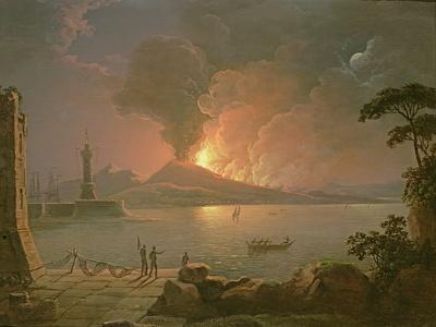 A View of Mount Vesuvius Erupting