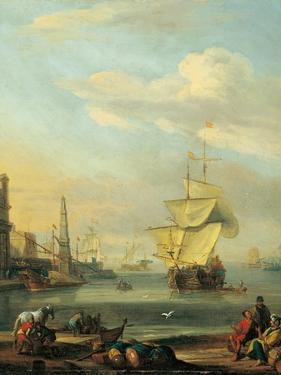 Mediterranean Harbor by Abraham Storck