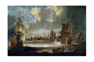 Ships in a Lagoon, 17th or Early 18th Century by Abraham Storck