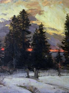 Sunset over a Winter Landscape, circa 1902 by Abram Efimovich Arkhipov