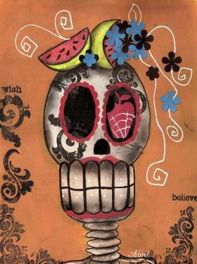 Day of the Dead Watermelon by Abril Andrade