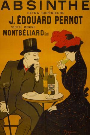 Absinthe Liquor Vintage Ad Plastic Sign