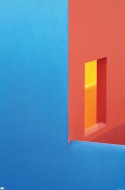 Abstract - Blue and Orange Walls