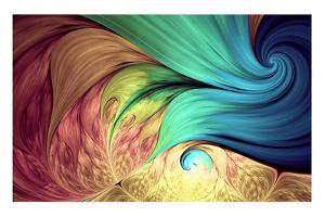 Abstract Fractal Patterns and Shapes. Dynamic Flowing Natural Forms. Flowers and Spirals. Mysteriou