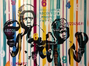 Boxers And Alphabet by Abstract Graffiti